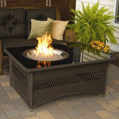Amazon Com Naples Coffee Table With Fire Pit Patio Lawn Garden Fire Pit Table Fire Pit Coffee Table Gas Fire Pit Table