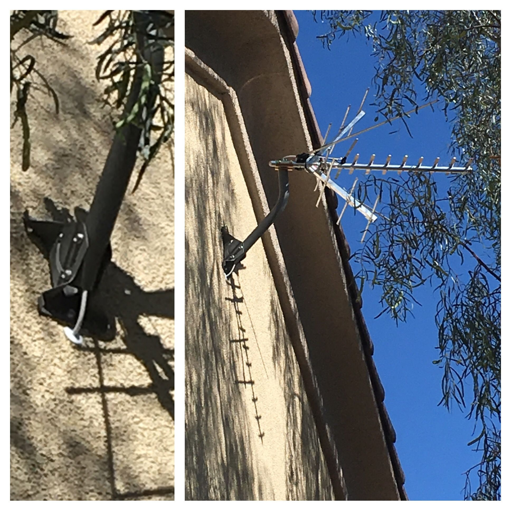 stealth hdtv antenna installation  wired through the attic to structured  wiring panel in the home  by www freehdtvaz com @freehdtvaz #cordcutter