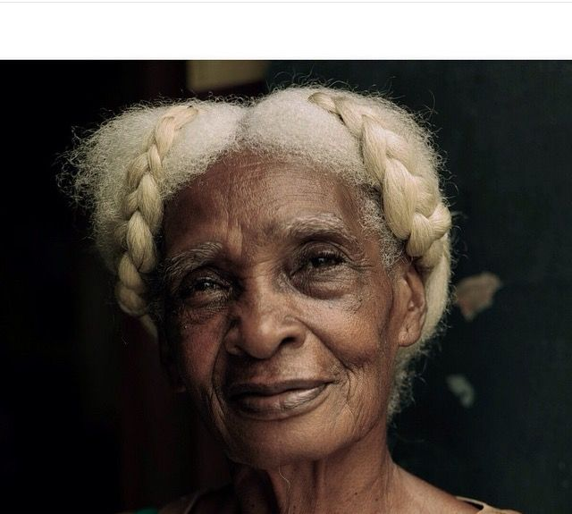 By Shalamonroque Elderly Woman With Beautiful Gray Hair Gray
