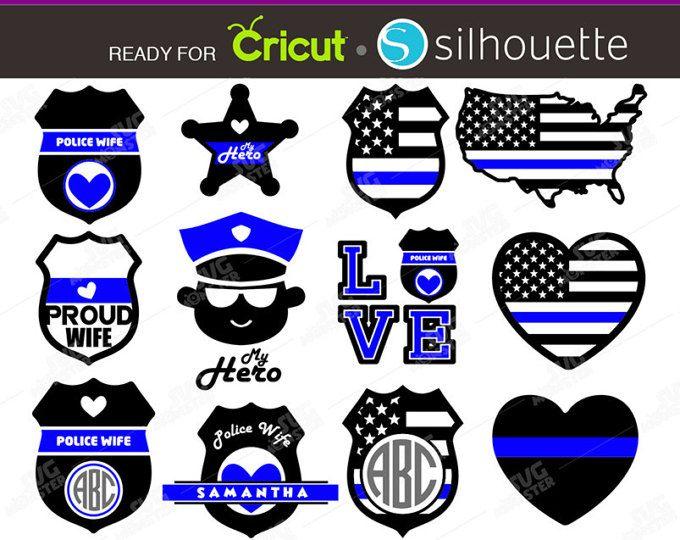 police svg Police badge Thin Blue Line American flag grunge svg police wife svg silhouette svg thin blue line svg svg file for cricut