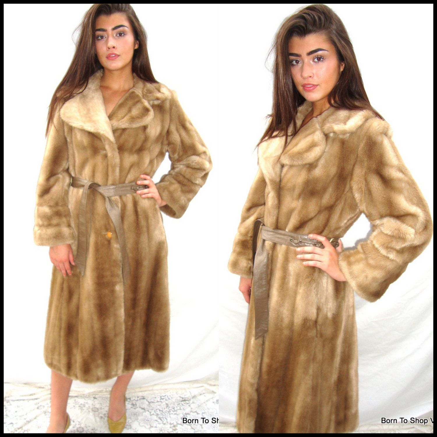 Faux mink coat, blonde mink, mink coat, Margot Tenenbaum coat ...