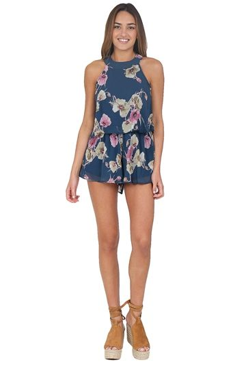 9fb61ebe0f3 Navy Floral Romper