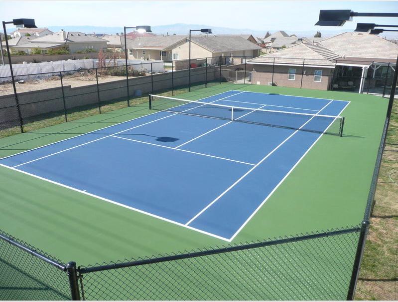 Tennis Court Home basketball court, Tennis court, Sports