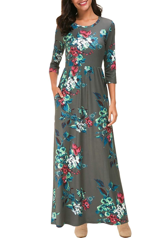 LISTHA Floral Dresses for Women Plus Size Long Sleeve Mini Dress Bowknot Sleeves