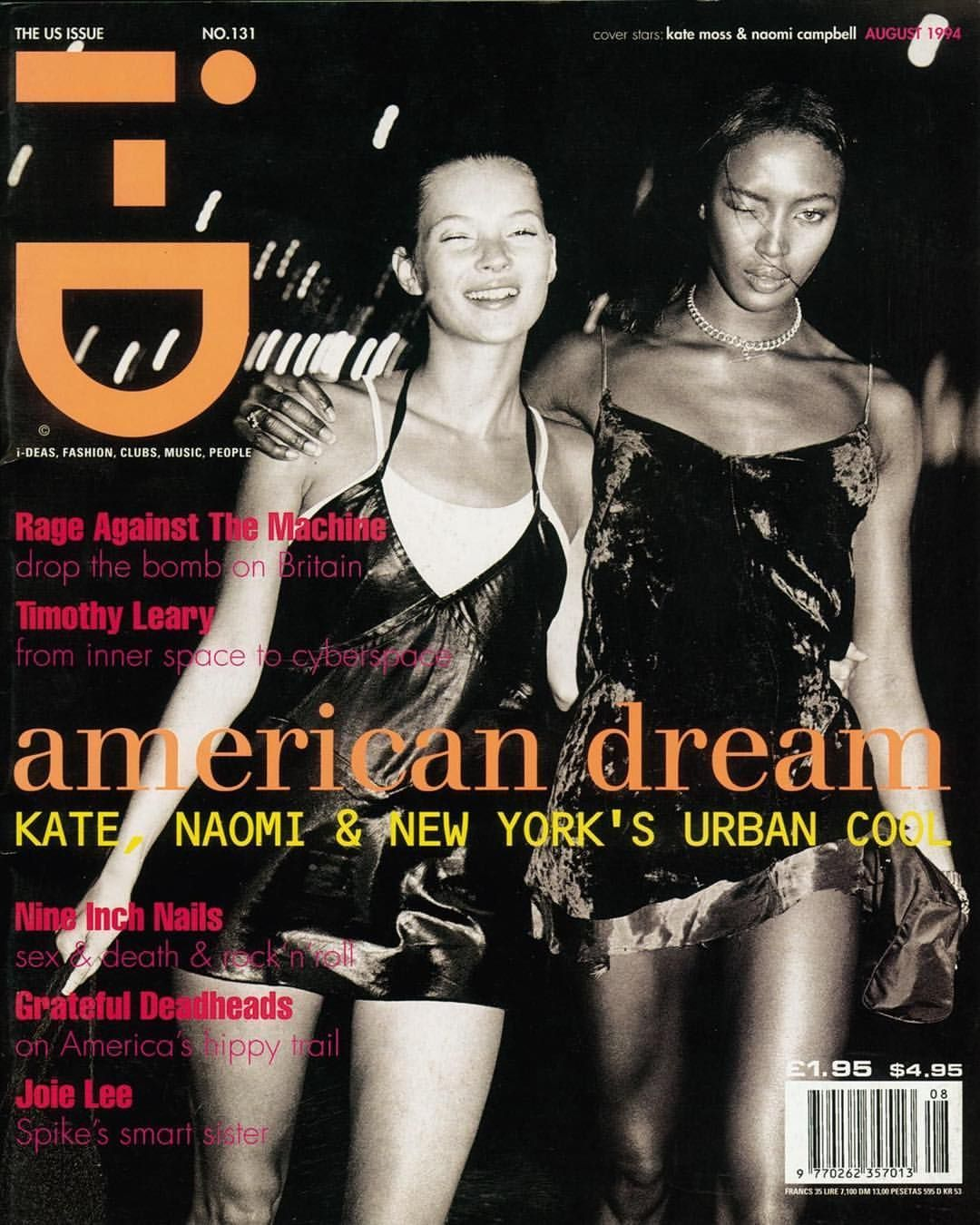 "@90s_models_ on Instagram: ""Kate Moss and Naomi Campbell for i-D, August 1994 Photographed by Ste"