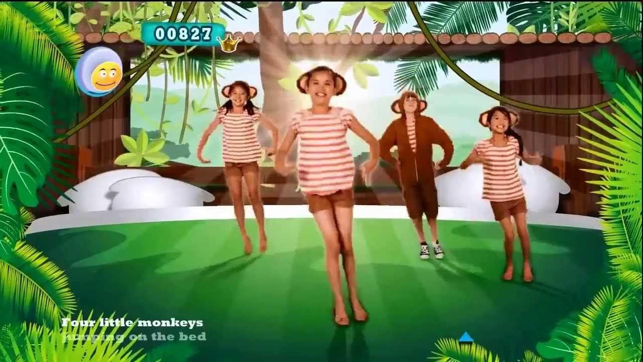 Uncategorized Children Music Videos just dance kids 2 five little monkeys new music video for children