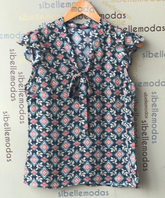 40963f39c4 BLUSA CREPE PRINT FLOWER - sibellemodas