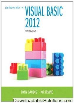 starting out with visual basic 2012 6th edition gaddis irvine rh pinterest com Kip Irvine Library Kip Irvine Library