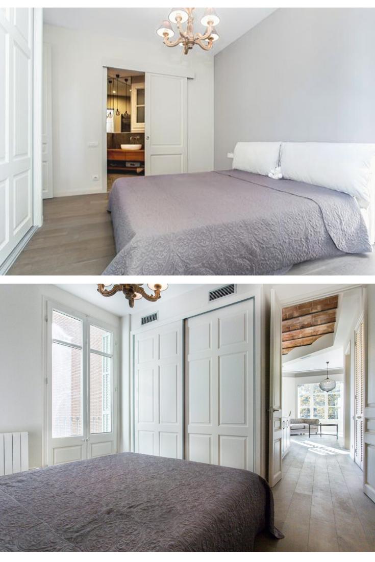 Dormitorio estilo provenzal-francés de reforma e interiorismo Ronda Sant Antoni   #decoracion #diseño #interiorismo #diseñointeriores #reformas #reformasintegrales #decor