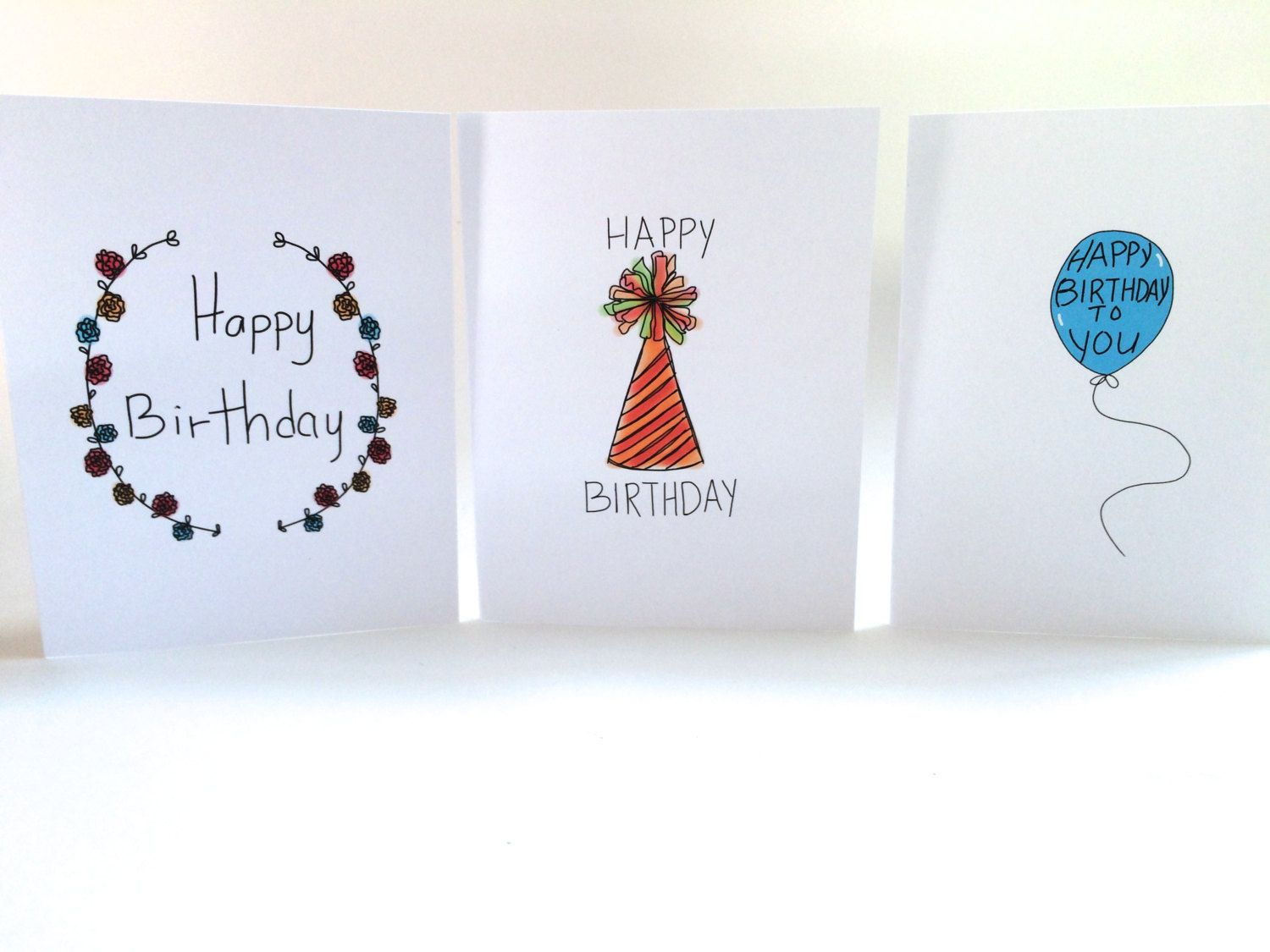 Birthday card set pack of birthday cards set of three doodle cards birthday card set pack of birthday cards set of three doodle cards pack of cards made on recycled paper and envelope bookmarktalkfo Gallery