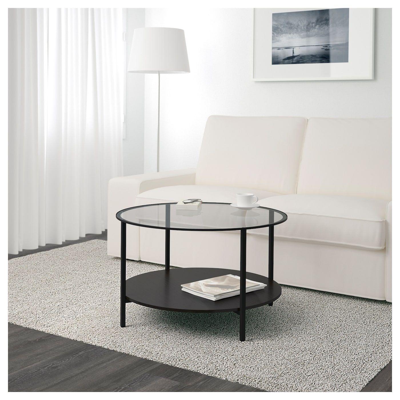 Ikea Vittsjo Black Brown Glass Coffee Table In 2019 Maple