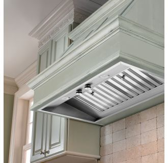 View The Vent A Hood M34sld 36 Wall Mount Liner Insert With Single Or Dual Blower Options And Halogen L Range Hood Insert Halogen Lighting Kitchen Hood Design