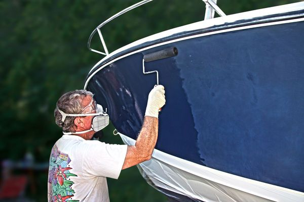 Painting hull instead of sanding/buffing in 2019 | Boat ...