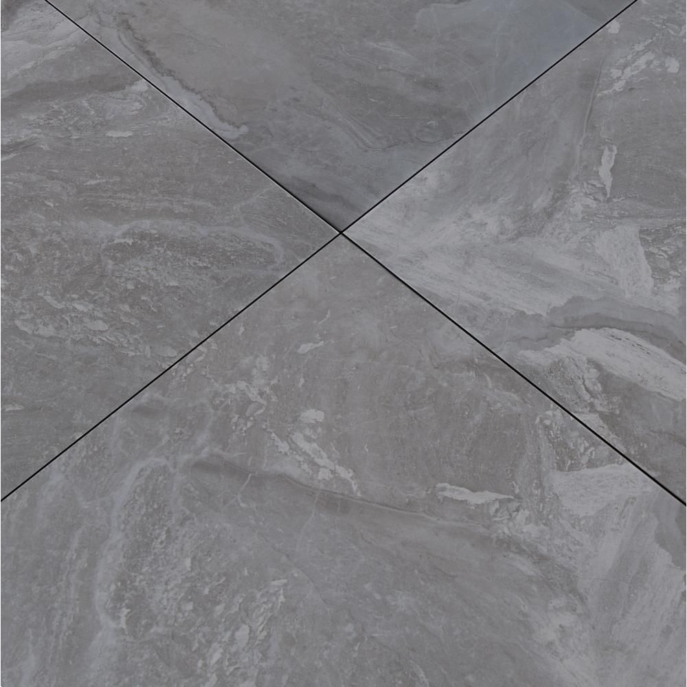 Msi Alicante Grigio 18 In X 18 In Glazed Porcelain Floor And Wall Tile 15 75 Sq Ft Case Porcelain Flooring Porcelain Wall Tile Flooring