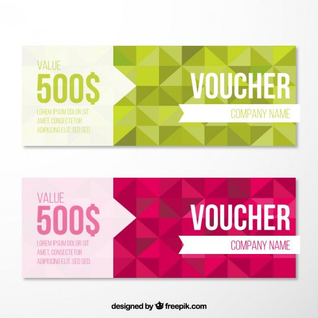 geometrical voucher pack free vector graphic design gift voucher