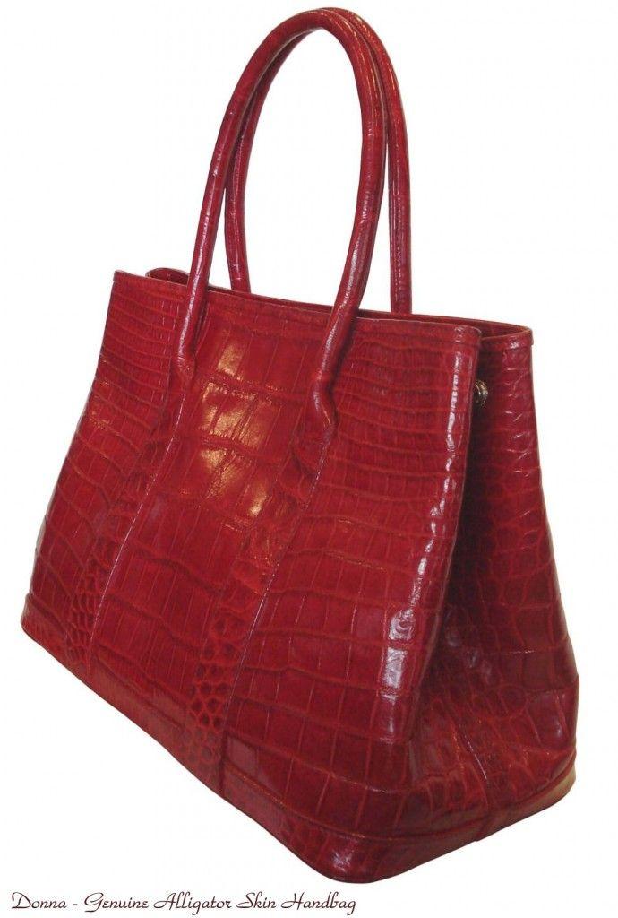 Genuine Alligator Designer Handbag | Handbags | Pinterest