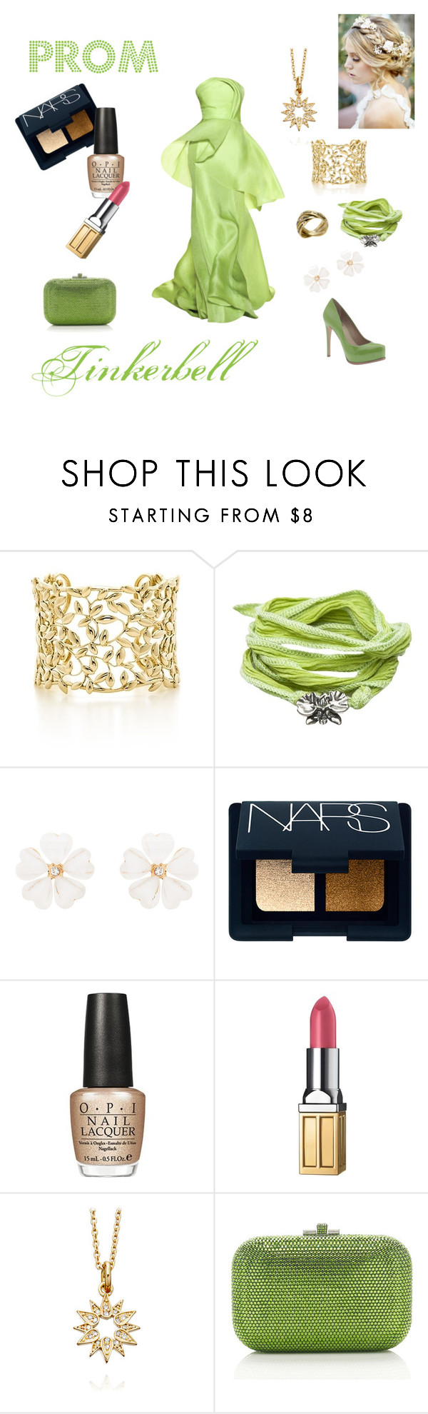 """""""Tinkerbell"""" by neverland-dreamer-821 ❤ liked on Polyvore featuring Lela Rose, Paloma Picasso, Catherine Michiels, Forever New, NARS Cosmetics, Pour La Victoire, OPI, Elizabeth Arden, Astley Clarke and Judith Leiber"""