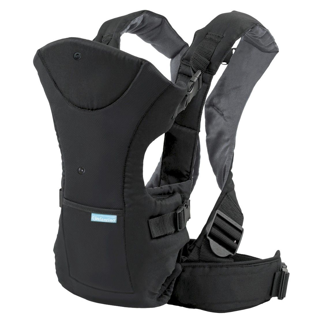Infantino Flip Front Or Rear Facing Baby Carrier Black Art