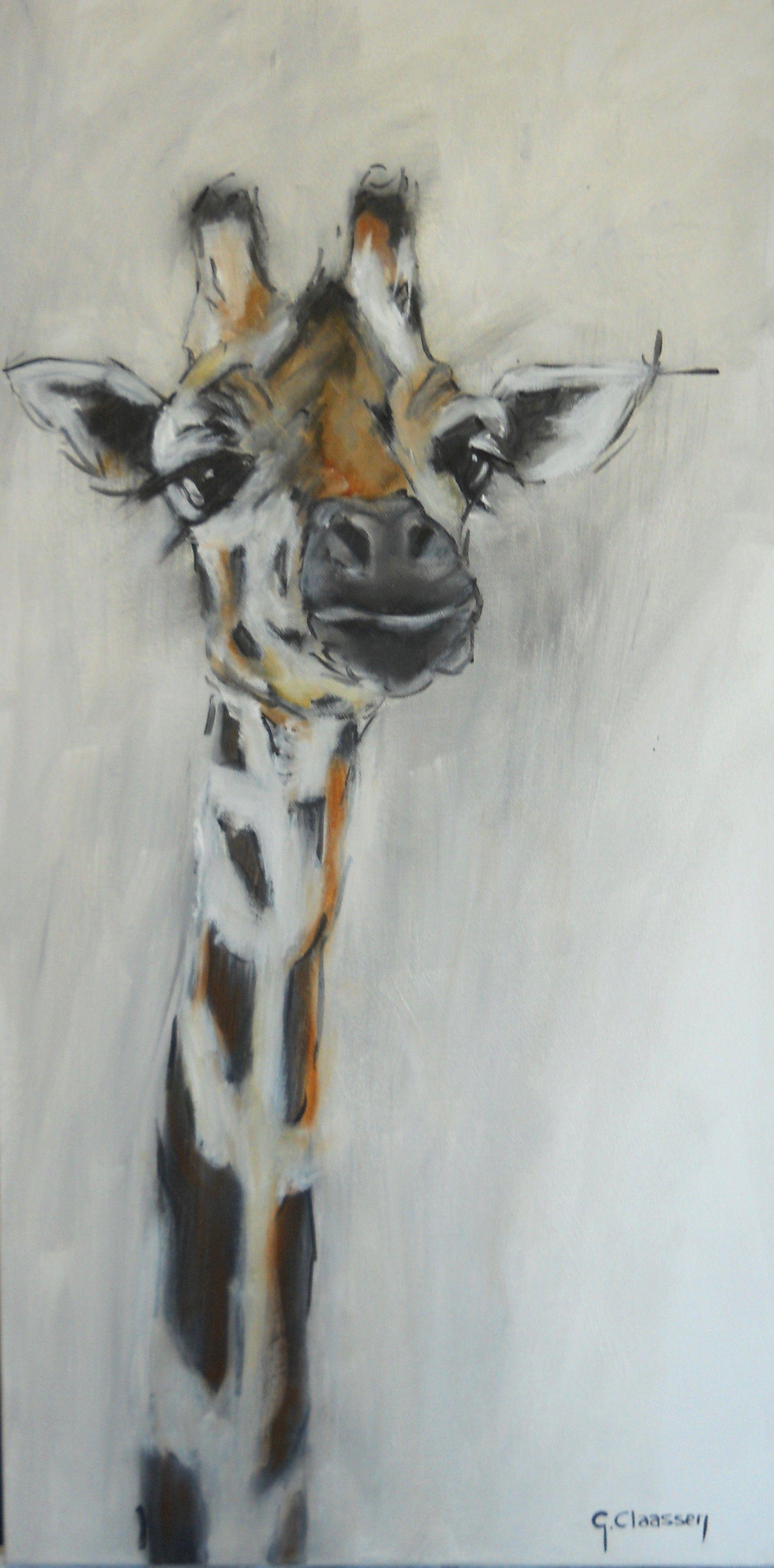 giraffe painting  paintings  Pinterest  Jirafa Animales de