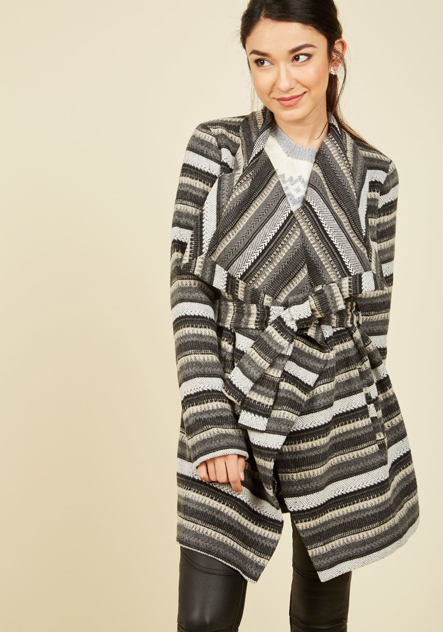 679771428e1ba2 ... can't be spent snuggled by the fire, you turn to this striped jacket  from Jack by BB Dakota for the same feelings of warmth and comfort. This  wrap-style ...
