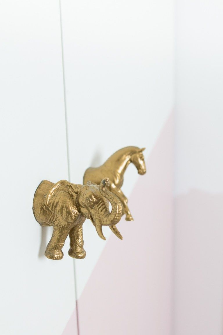 Kinderzimmer Ideen Diy Ikeahack Tierturgriff Turgriff Schrank In