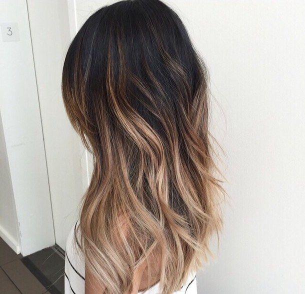 Beaut cheveux chatains bruns mode cheveux coifure ombre ombre colaration tumblr tumblr - Balayage gris sur brune ...