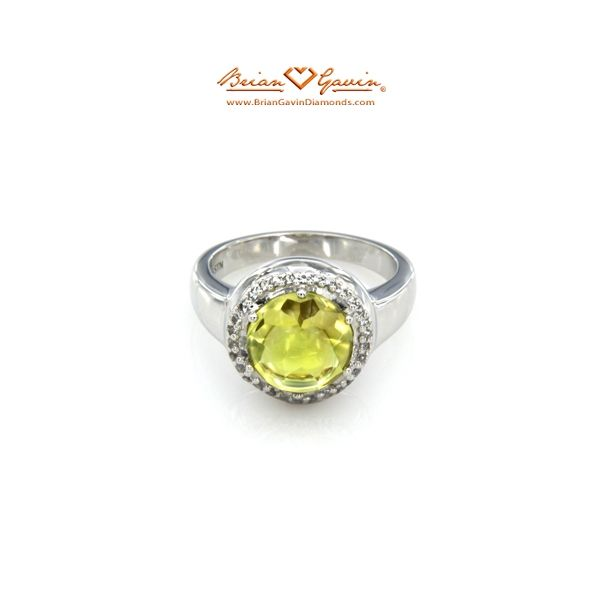 Brian Gavin Select Round Cab Lemon Quartz #gemstone ring - $152