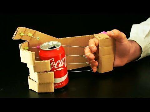 Como Hacer una Mano Robotica en tu Casa con Carton  Inventos Caseros  YouTube  DIY  Mano robotica Hacer un robot y Inventos para nios