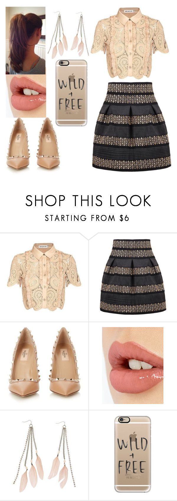 """""""Untitled #939"""" by loves-5sos ❤ liked on Polyvore featuring self-portrait, Valentino, Charlotte Tilbury, Charlotte Russe and Casetify"""