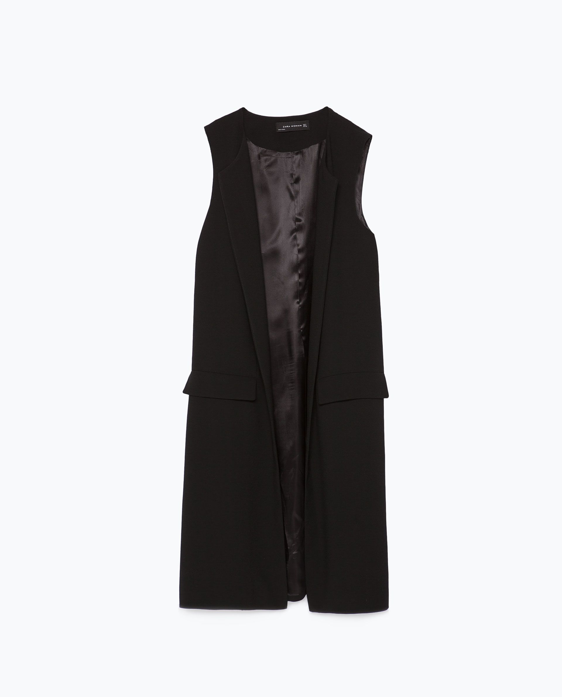 77cd008ec4 LONG WAISTCOAT WITH SLITS - View all - Jackets - WOMAN | ZARA Canada ...
