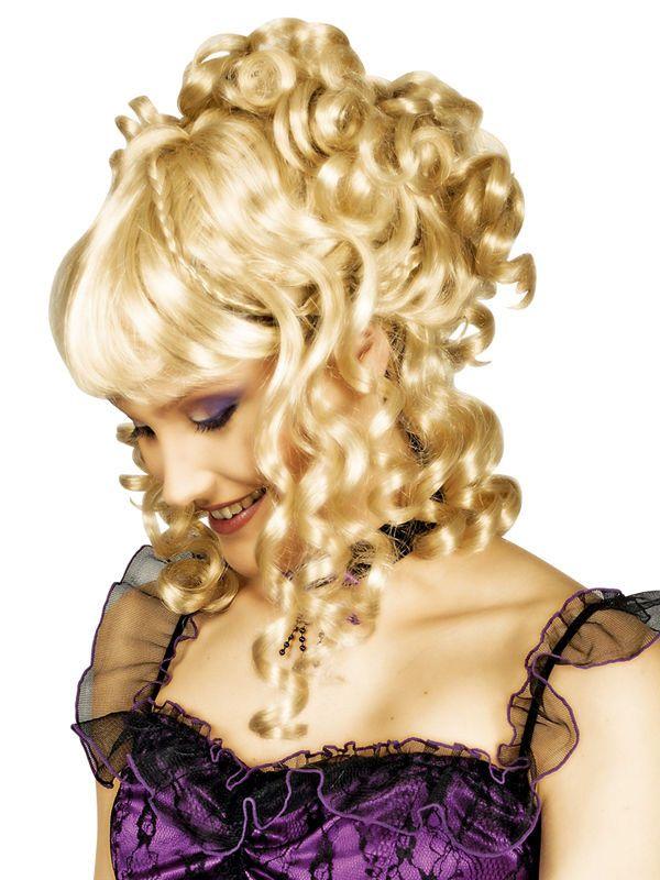 Barock Perucke Hochsteckfrisur Locken Blond Aus Der Kategorie
