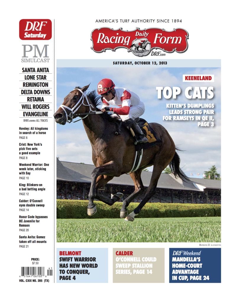 Daily Racing Form Cover Page | My Portfolio | Racing form, Cover