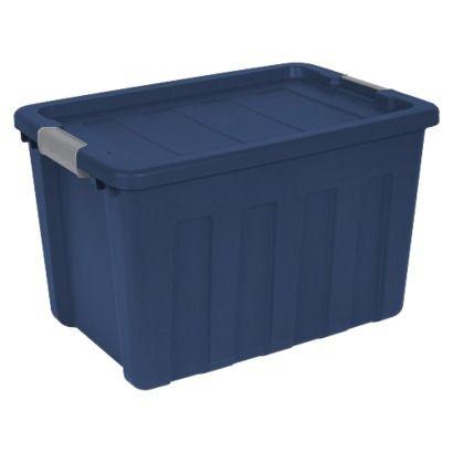Sterilite 25 Gallon Ultra Tote Blue Set Of 4 Sterilite Lid Storage Storage