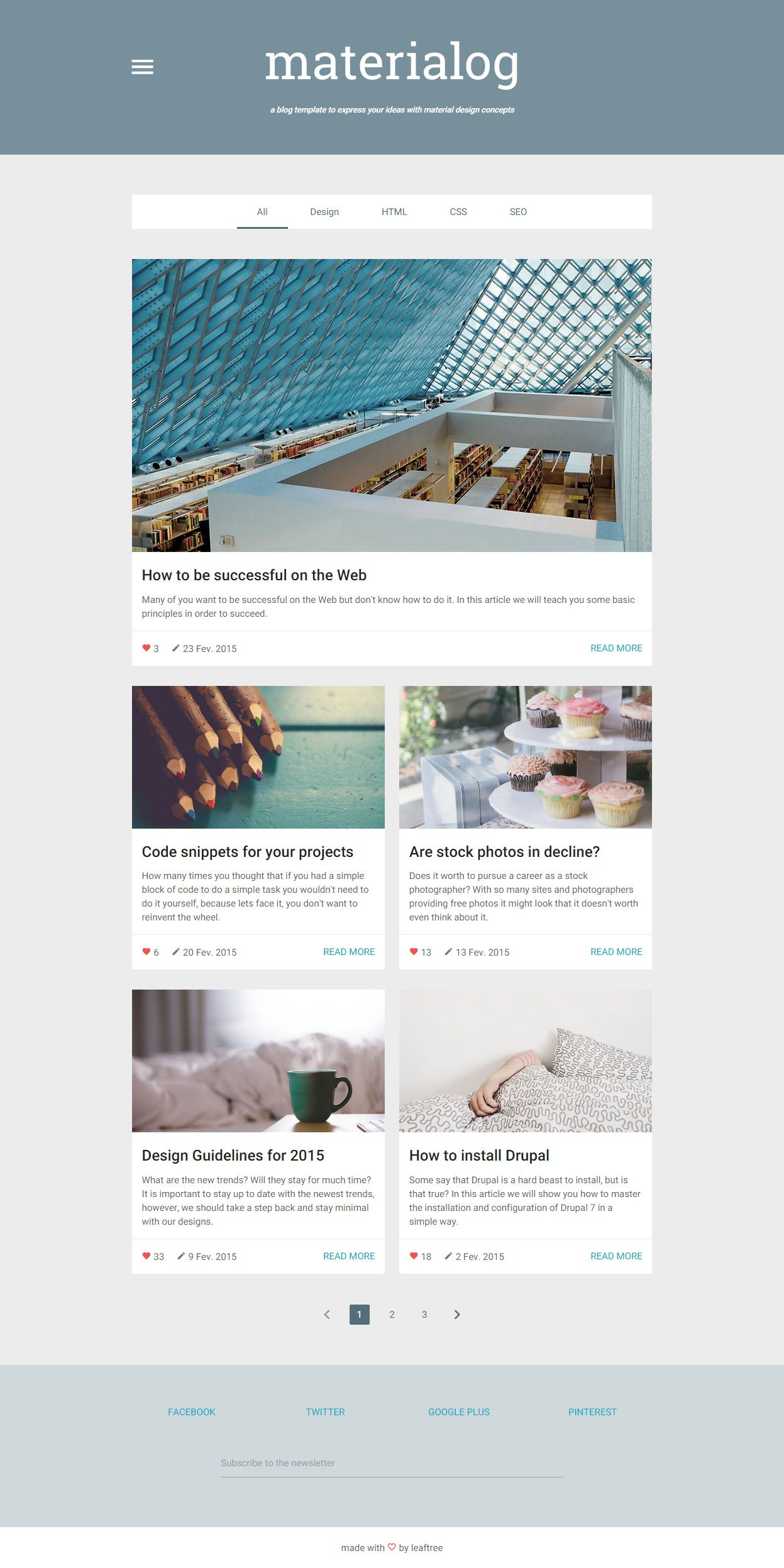 Materialog Is Premium Full Responsive Blog Html5 Template Retina