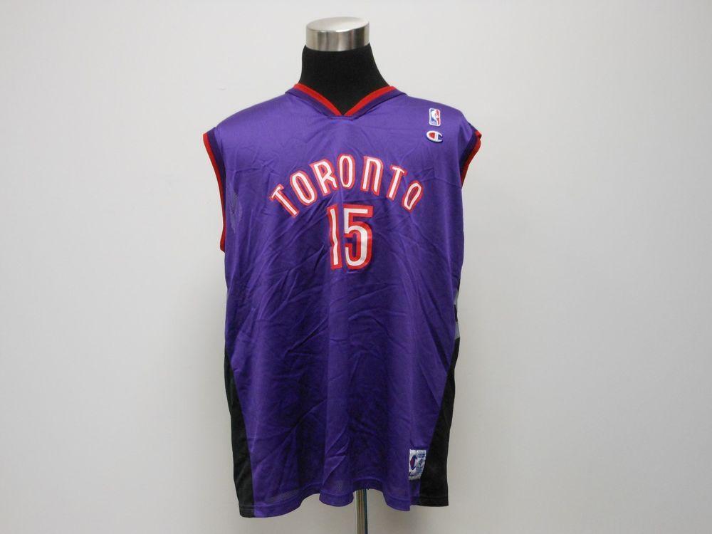f108a9121c1e Vtg 90s Champion Toronto Raptors Vince Carter  15 Basketball Jersey sz 48  NBA  Champion  TorontoRaptors  tcpkickz