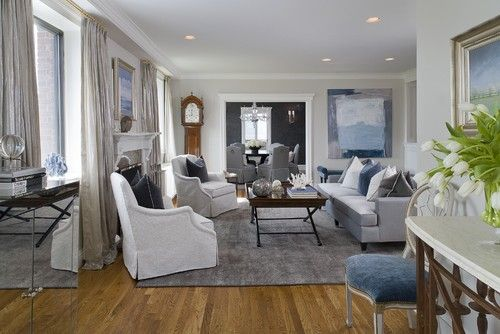 These living room walls in Intense White OC-51 by Benjamin Moore look fabulous in an eggshell finish.