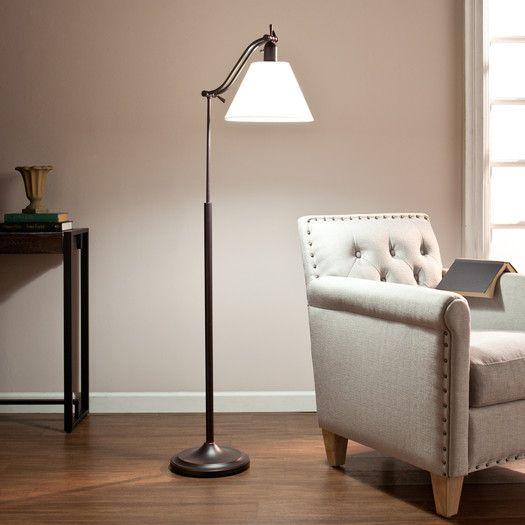 Desklamps Ottlite Chisholm Task Floor Lamp 20 Watts 10000 Hours Bulb Life Height Adjustable Antique Bronze Task Floor Lamp Floor Lamps Living Room Floor Lamp