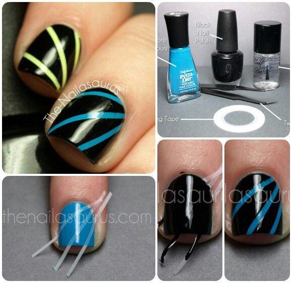 #nails #neonblack