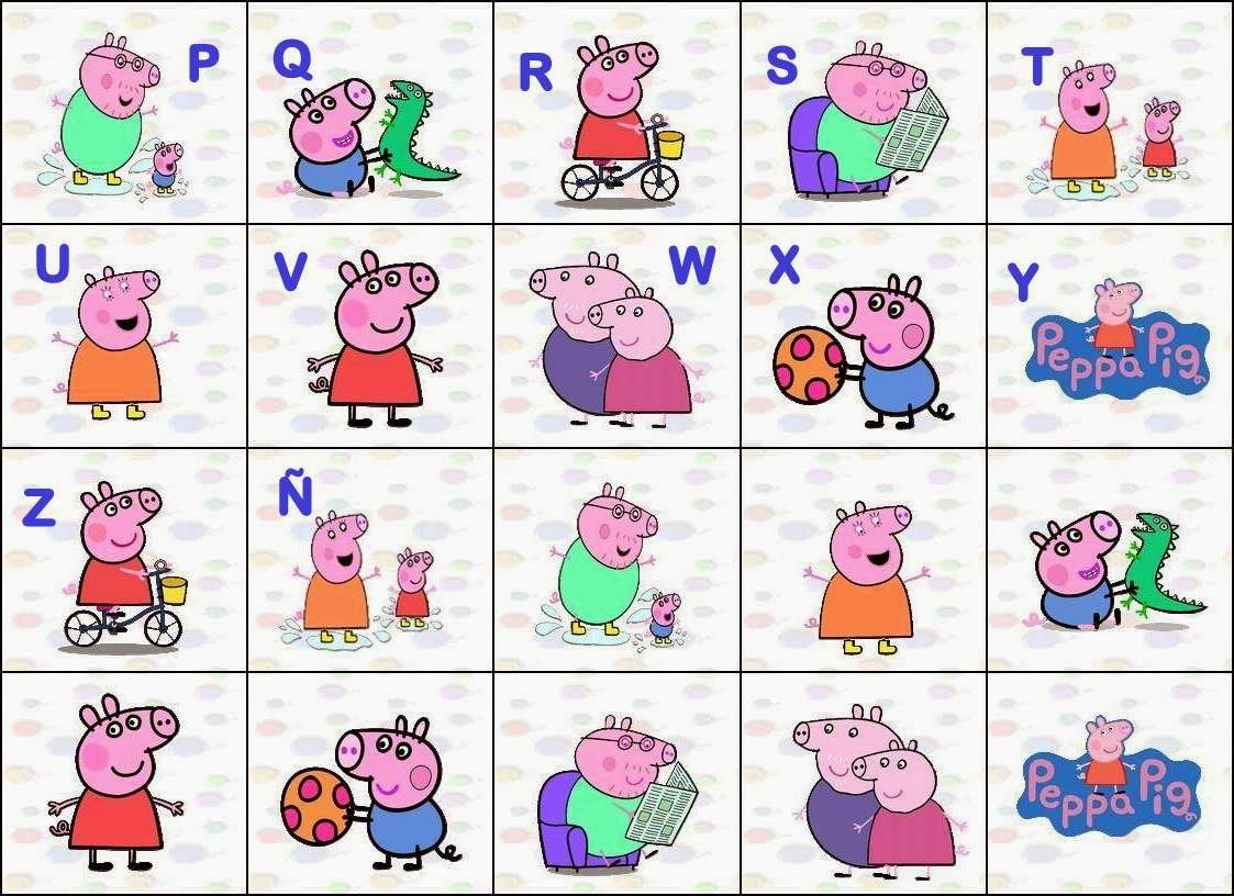 Oh My Alfabetos Alfabeto De Peppa Pig Y Su Familia Peppa Pig Printables Free Alphabet Printables Peppa Pig [ 816 x 1123 Pixel ]