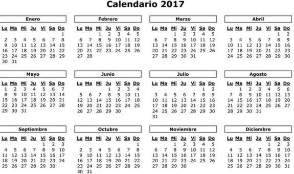 Festivos Puentes Y Macropuentes De 2017 Calendario Laboral De