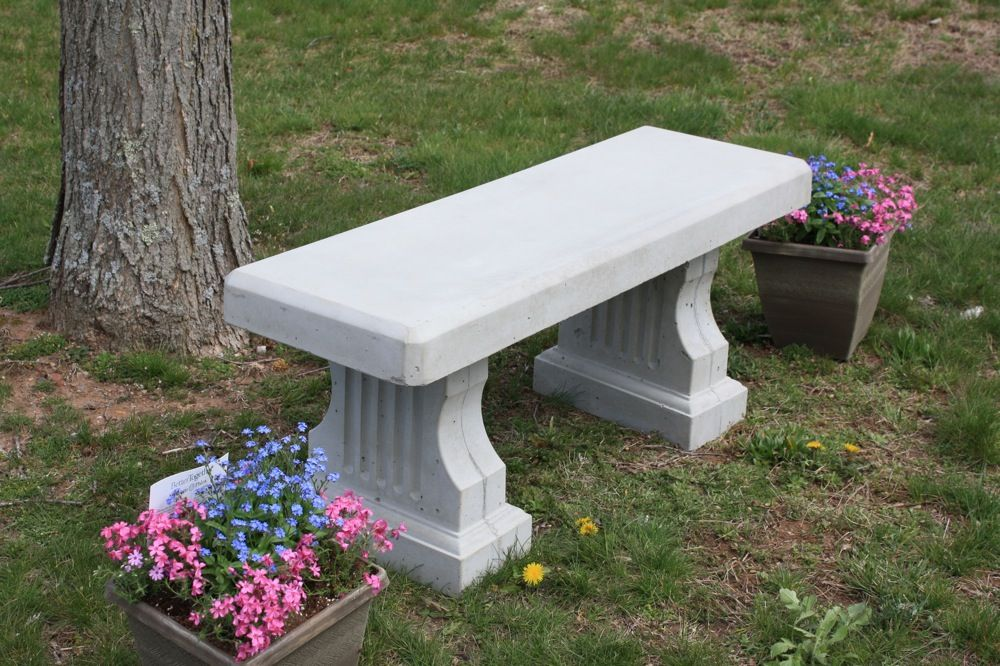 Our attractive Concrete Coliseum Bench with a Straight Seat has a