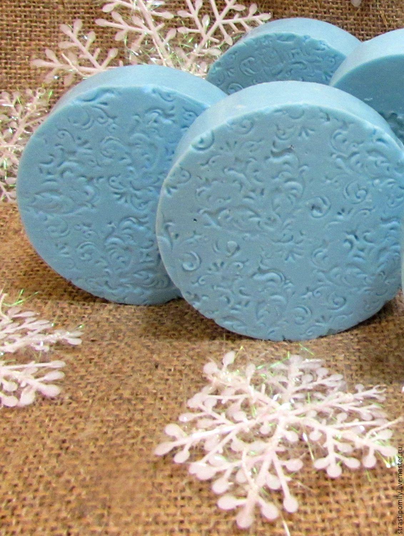 """Winter Soap / """"Зимушка"""" мыло с нуля Новогоднее Подарок на новый год 2017 - голубой, новогоднее мыло"""