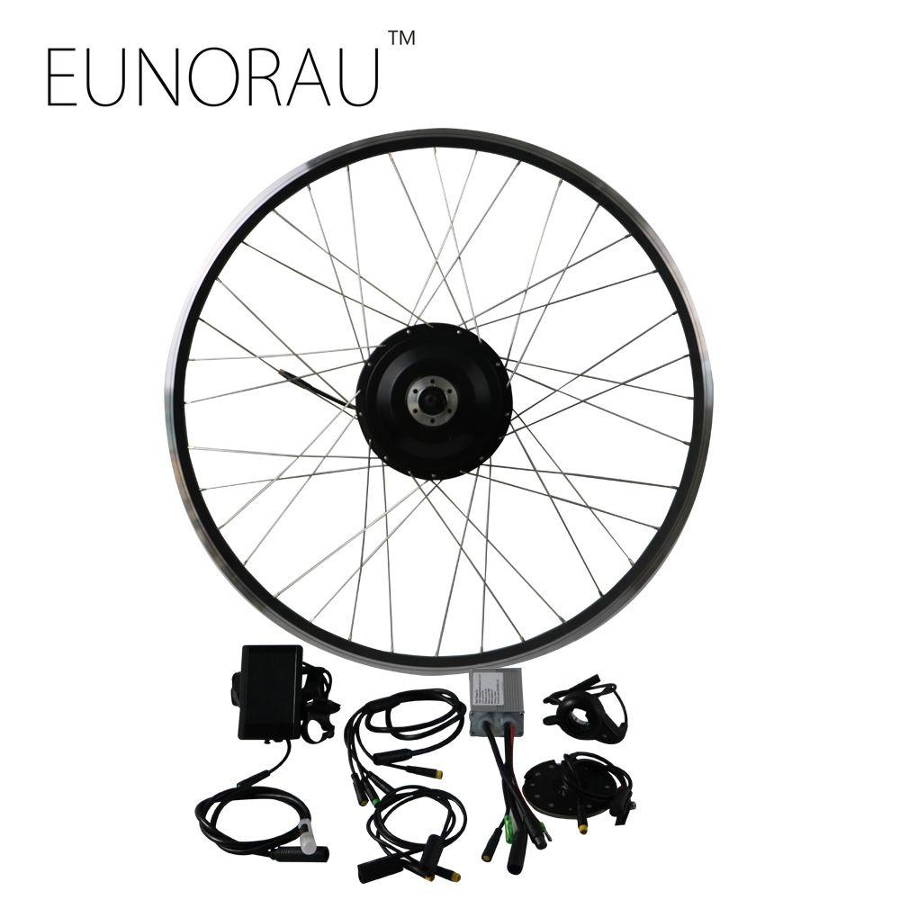 Free Shipping 48v 500w 8fun Bafang Brushless Gear Hub Motor Front Wheel Electric Bike Conversion Kit Ebike Electric Bike Kits Bike Kit Electric Bike