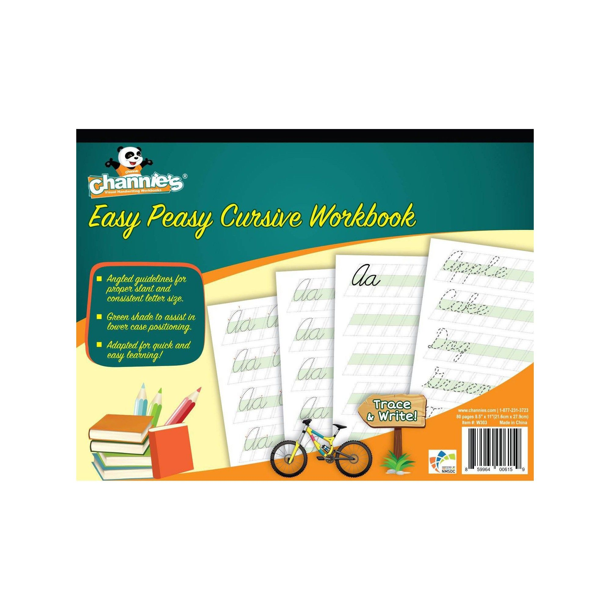 Channie S Easy Peasy Cursive Workbook