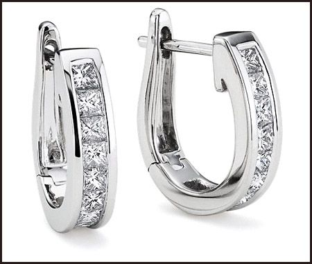 Princess Cut Diamond Hoop Earrings Styles You Should See Top Jewelry Brands Designs Online Jewellery S
