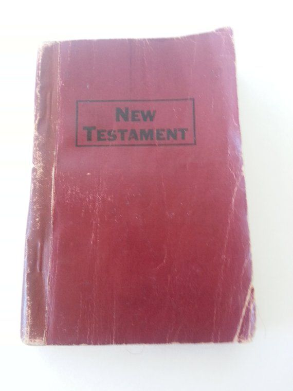 1924 New Testament Miniature Red Leather Bible | Products in