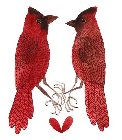 blushing birds- Golly Bard