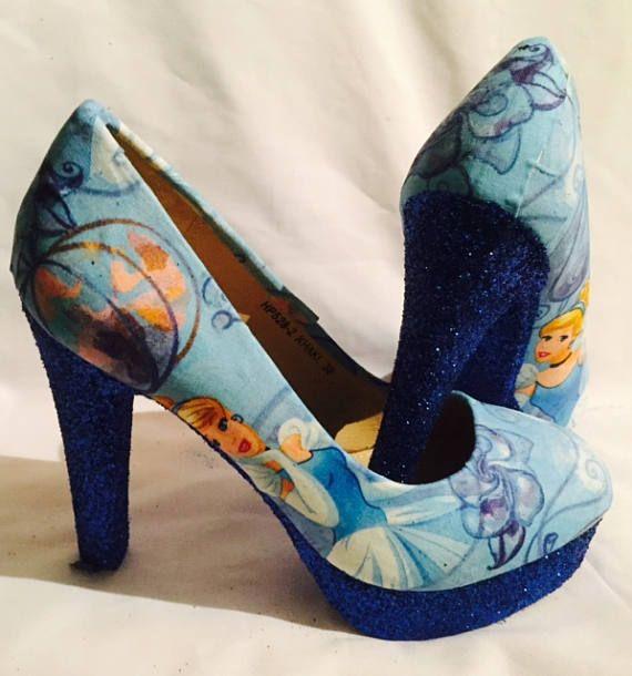 Chaussures Disney Cendrillon / talons * ** uk en tailles 3-8 **