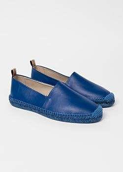 f9814849d Paul Smith Men's Blue Leather 'Sunny' Espadrilles | style | Mens ...