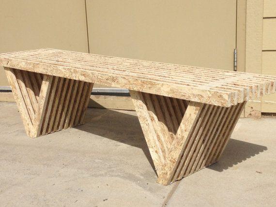 Osb Slat Bench Unfinished Osb Platen Meubels